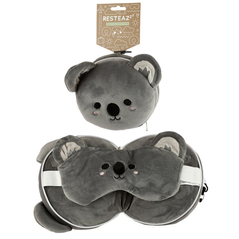 Koala Travel Pillow & Eye Mask Set
