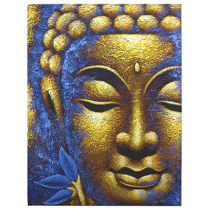 Buddha Painting - Gold Face & Lotus Flower