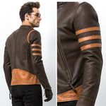 Men's leather Wolverine bomber Jacket