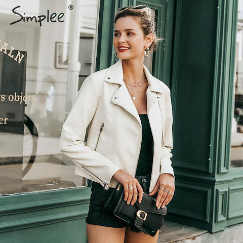 Simplee Sleek Leather Jacket