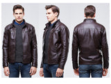 Stylish Windproof Leather Jacket