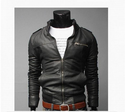 2020 Business Casual Leather Jacket