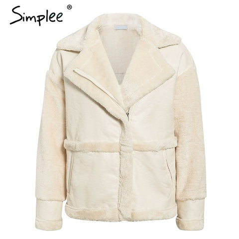 Simplee Soft Leather Jacket