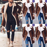 Thick Suede Leather Longcoat