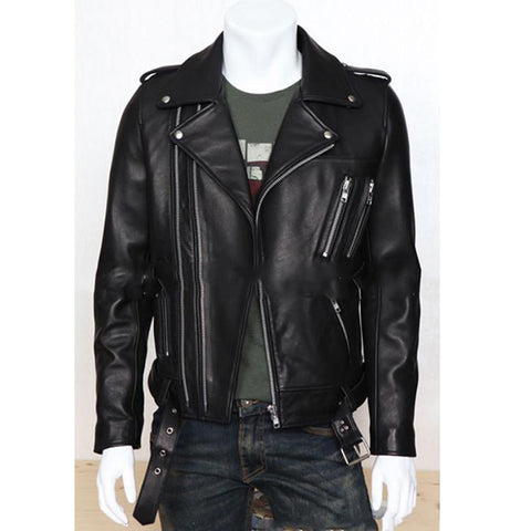 Tripple Zipper Leather Jacket