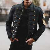 Leather Drum Major Windbreaker