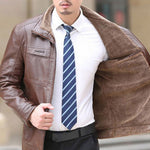Classic Business Leather Jacket