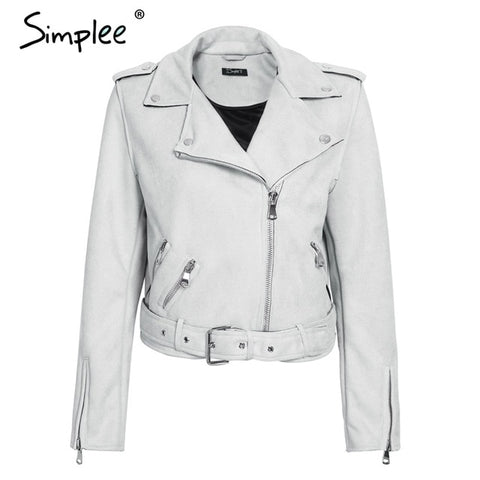 Simplee Artesian style Suede Leather Jacket