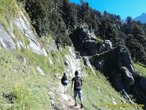 On the Triund hill trek