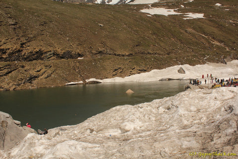 River Beas at Snow Point Manali, this is where it originates