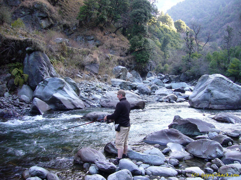 Fishing in the Uhl River, Barot