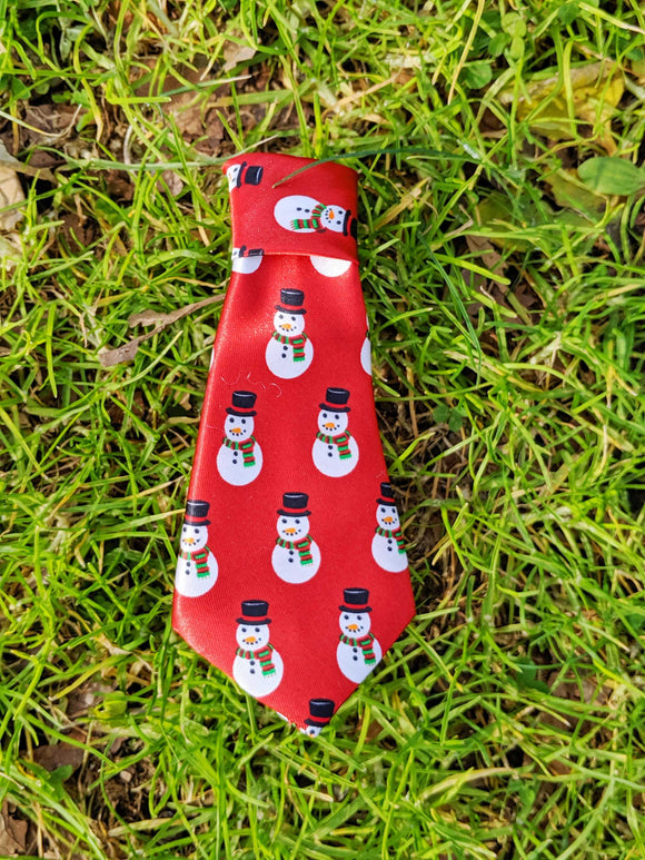 Snowman Tie - The Cuddly Boutique