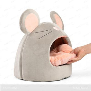 Cuddly Grey Mouse Hut - The Cuddly Boutique
