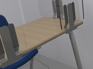 Desk Divider with pass-through slot