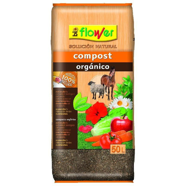 COMPOST ORGANICO FLOWER 50L