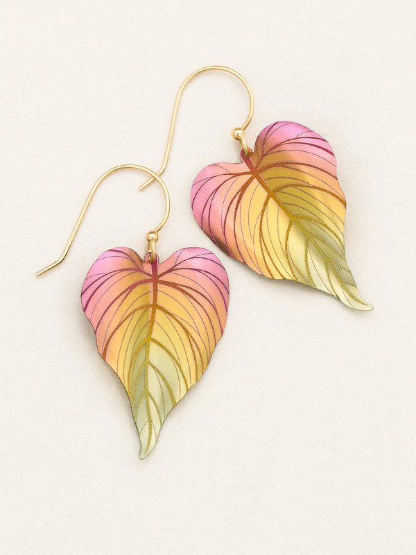 Tropical Heart Earrings