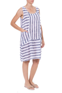 Sleeveless Multi Strip Dress, 3 colours