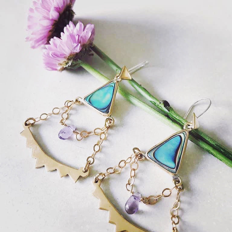 Triangle Swing  Earrings