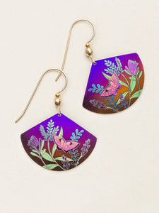 Garden Whimsy Earring, purple