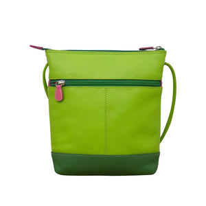 Colour Block Crossbody Leather Bag, 3 colours