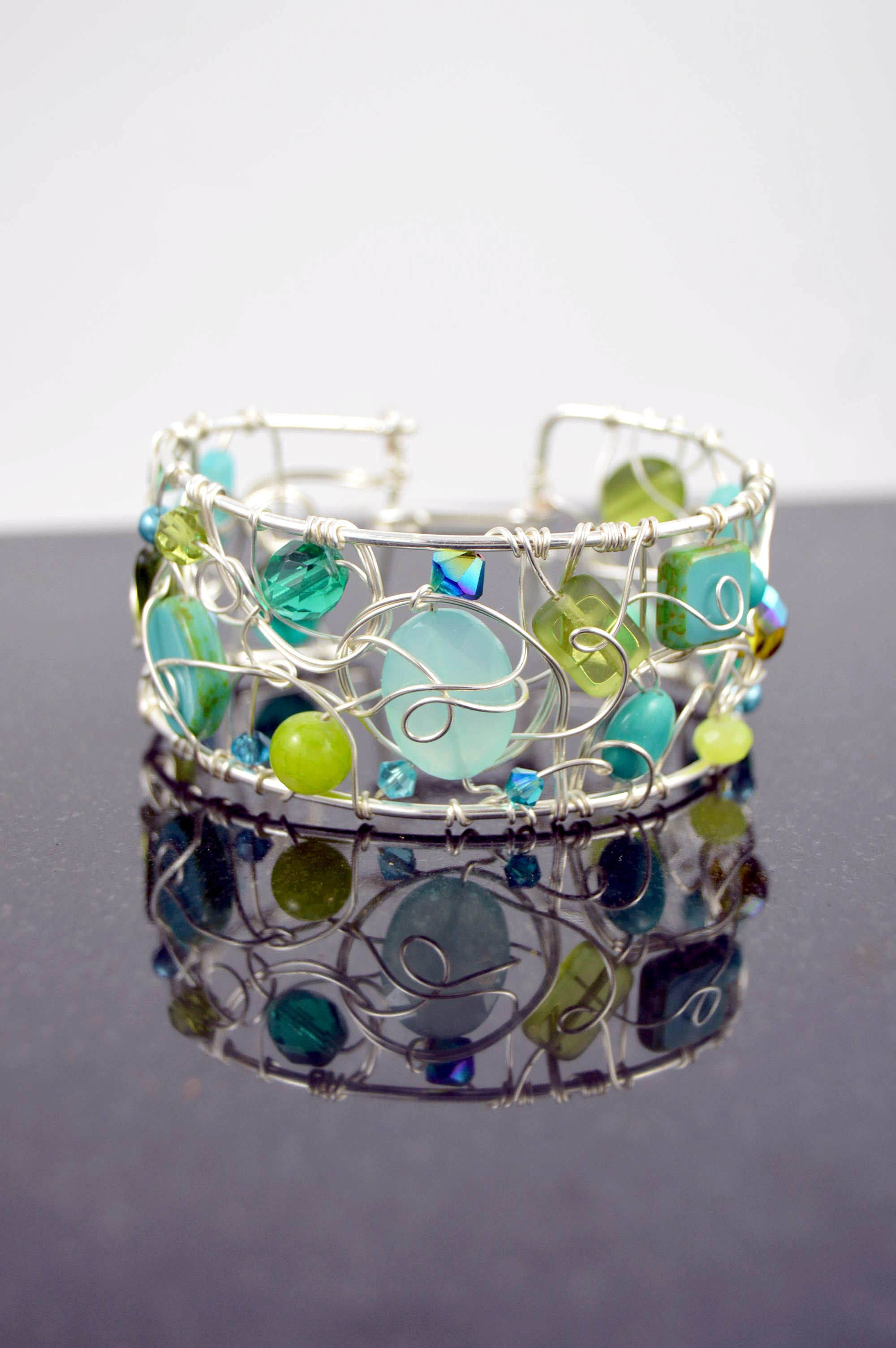 Signature Wire Woven Cuff-Large