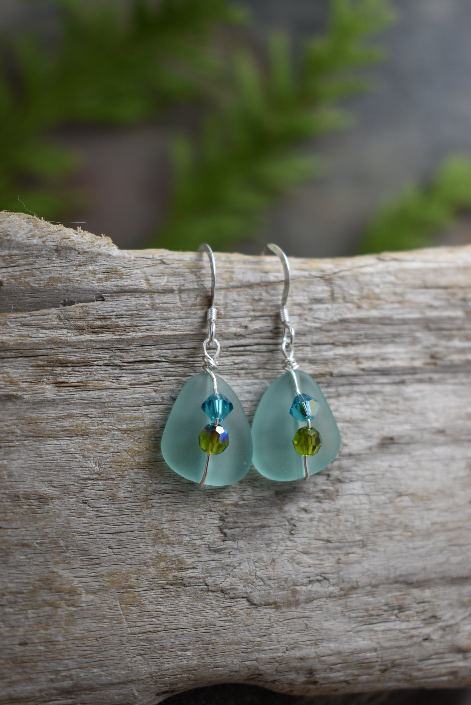 Seaglass and Crystal Drops