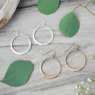 Hoop Earrings , silver or gold