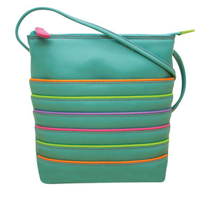 Stripe Crossbody Leather Bag, 2 colours