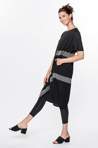 Geo Contrast Tunic Dress