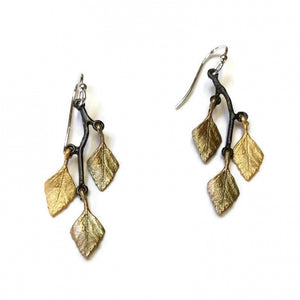 Small Autumn Birch Earrings