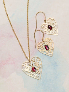 Blooming Heart Earrings