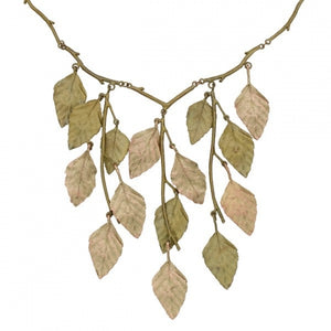 Autumn Birch Leaf Necklace