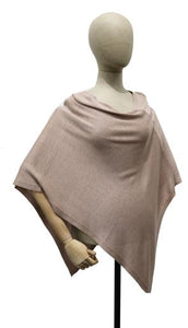 Triangle Knit Jersey Poncho, Taupe