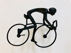 Cyclist Wall Sculpture