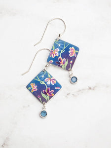 Blue Garden Sonnet Earrings