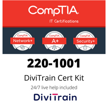 Load image into Gallery viewer, Cert Kit 220-1001: CompTIA A+ - 24/7 Live Help included - 365 Days Access