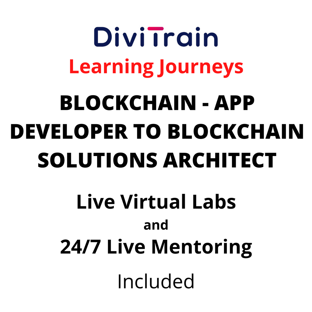 BLOCKCHAIN - App Developer To Blockchain Solutions Architect | 4 Tracks | 24/7 Live Mentoring and 24/7 Live Labs Included | Practice tests | 365 Days Access