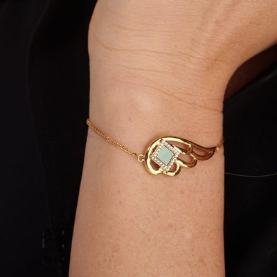 Shiny Angel Wing Bracelet