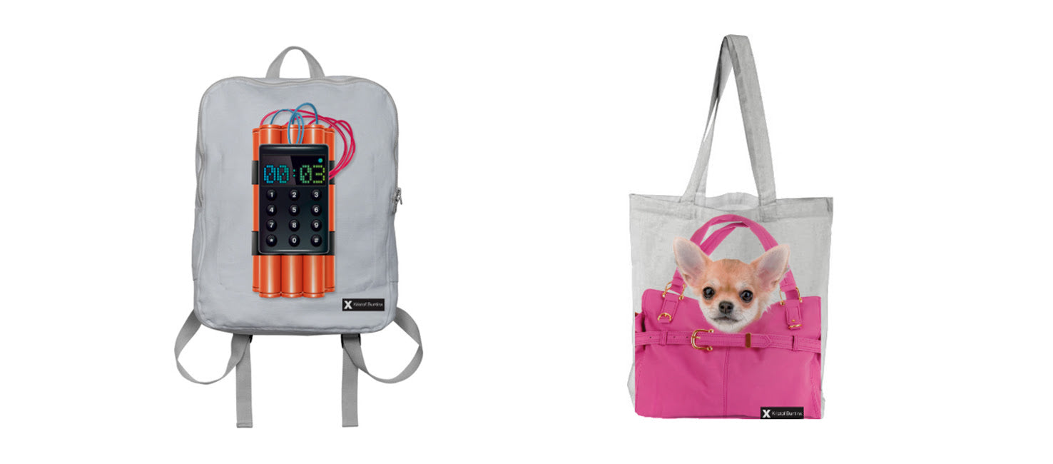 The Suicide Bomber Backpack and The Doggy Bag designed by Kristof Buntinx