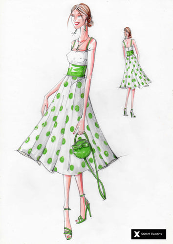 Polka–Dot Dress