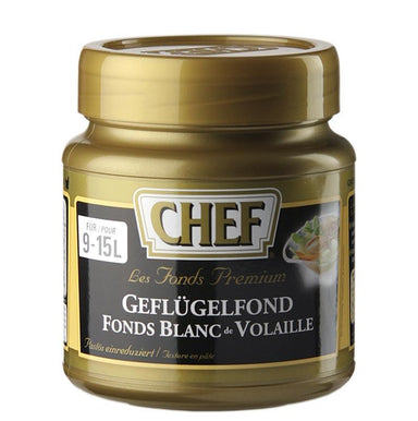 CHEF Premium Koncentrat - hønsefond, let pastaagtige, bleg, for 9-15 L, 630 g - Saucer, supper, fond - CHEF -