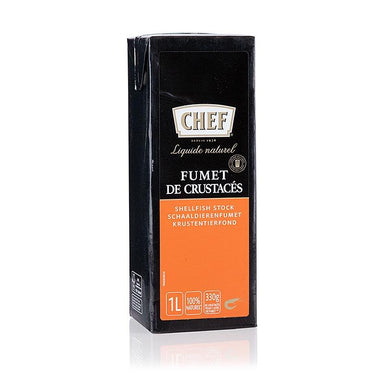 CHEF Premium - krebsdyr lager, flydende, klar til at lave mad, 1 l - saucer, supper, fond - CHEF -
