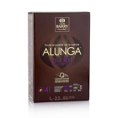 Renhed Nature Alunga, mælkechokolade, Callet, 41% kakao, 1 kg - overtrækschokolade chokolade forme, chokoladevarer - Cacao Barry Couverture -