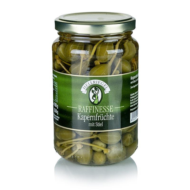 Caperberries, små, med stilk, til ø 15 mm, raffinement, 350 g - pickles, konserves, appetitvækkere - pickles & Tørret -