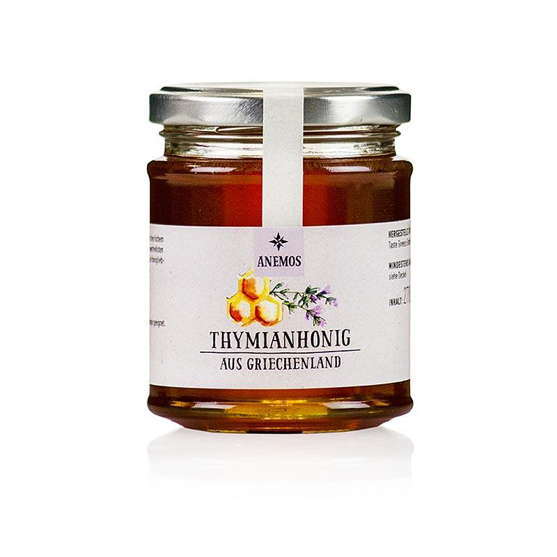 Timian honning, Anemos, 270 g - honning, marmelade, frugt opslag - honning -