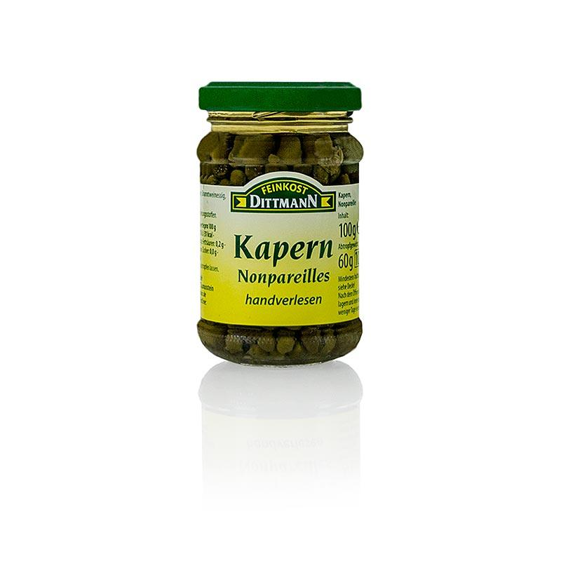 "Kapers ""nonpareils"", ø 4-7mm, Dittmann, 100 g - pickles, konserves, antipasti - Pickles & Tørret -"