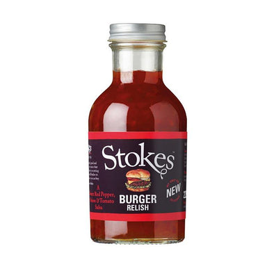 Stokes Burger Relish, rød peber & tomat salsa, 265 ml - Saucer, supper, fund - Stokes -