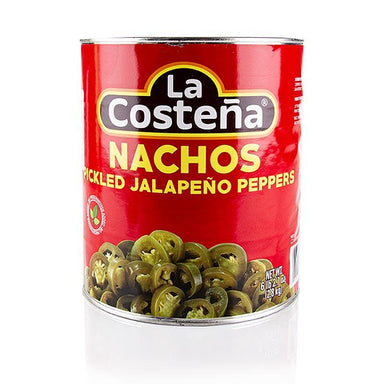 Chili peppers - Jalapenos snit (La Costena), 2,8 kg