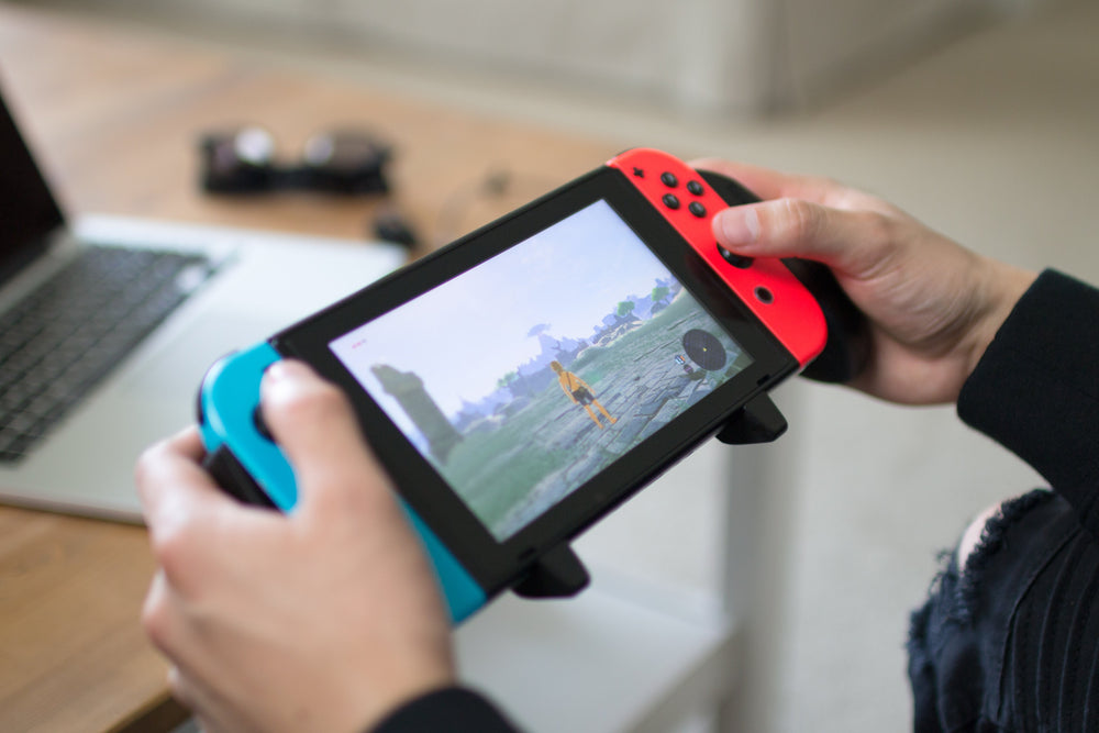 Nintendo Switch being played with Satisfye Pro Gaming Grip