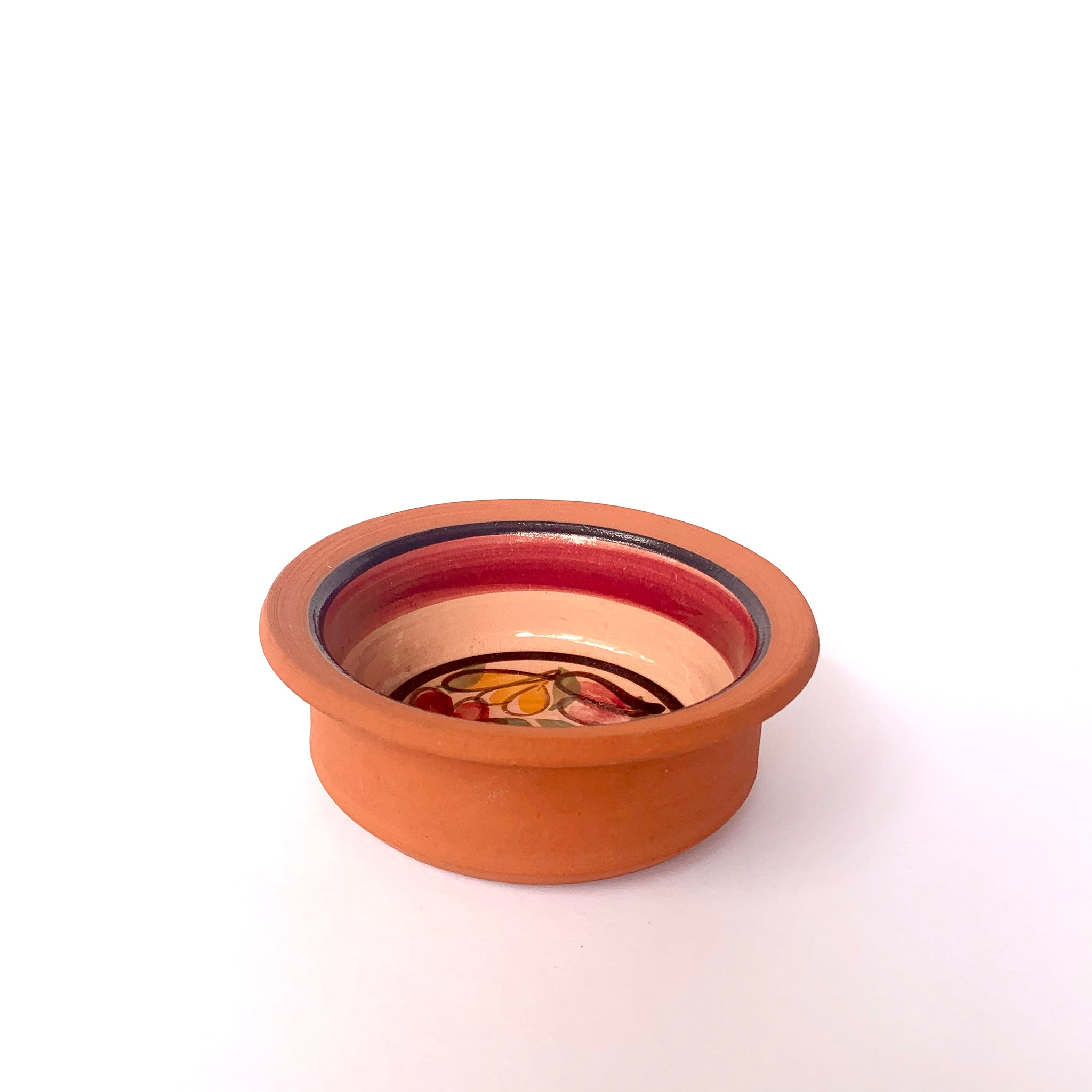 Terracotta Bowl with Flower Interior (small)